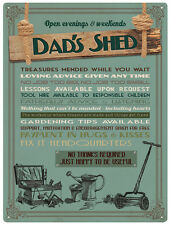 Dad's Shed funny metal sign (rh)
