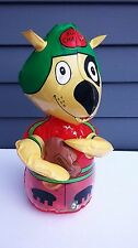 Vintage Kiddie Products inflatable vinyl toy bopper football dog Taiwan 1970's