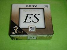 SONY 3-pack Mini Disc MD ES 74 min Made in Japan 3MDW74M New Sealed