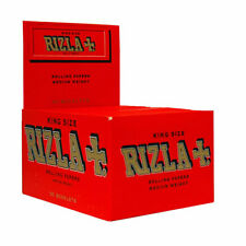 NEW RIZLA RED 50 BOOKLETS CIGARETTE ROLLING PAPERS KING SIZE GENUINE