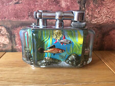 Magnificent & Rare 1950s Dunhill Aquarium Lucite Table Lighter