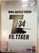 NEW*SEALED PC GAME WWII BATTLE TANKS: T-34 VS. TIGER (PC) (DVD) FACTORY SEALED