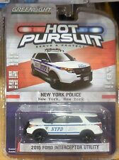 Green Light Collectibles Hot Pursuit New York 2015 Ford Interceptor Utility
