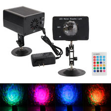 9W RGB LED Water Ripples Light Stage Lamp Projector Club Party Bar DJ Lighting