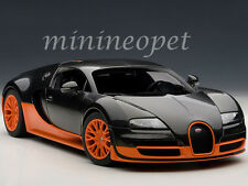 AUTOart 70936 BUGATTI VEYRON SUPER SPORT 1/18 CARBON FIBER BLACK / ORANGE