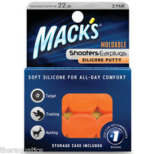 Mack's Moldable SHOOTERS EARPLUGS Swimming Shoot Nascar Sleep SNORE Comfort 43