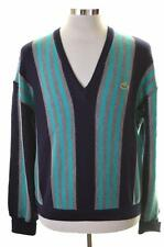 Lacoste Mens Jumper Sweater Size 5 Large Multi Stripes New Wool