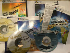 PC DVD-ROM MS FLIGHT SIMULATOR X DELUXE BASE GAME + ACCELERATION EXPANSION PACK