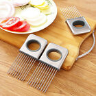 New Onion Holder Slicer Tomato Vegetable Cutter Stainless Steel Kitchen Tools