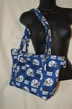 Indianapolis Colts NFL Football Quilted Shoulder Bag Purse Zip Closure 2 Strap