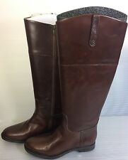 Women's Enzo Angiolini Eaellerby Brown Leather Knee-High Boots Size 7 1/2 M NEW