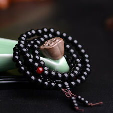 6mm * 108 Black Sandalwood Buddhist Tibetan Wood Prayer Beads Bracelet /Necklace