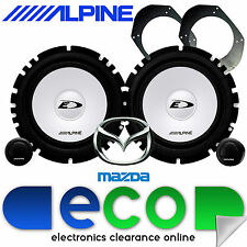 "Mazda MX5 2002-2005 ALPINE 6.5"" 560 Watts Front Door Component Kit Car Speakers"
