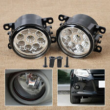 9LED Round Front Fog Lamp DRL Daytime Running Light For Ford Focus Honda Subaru