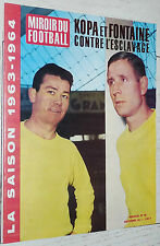 MIROIR FOOTBALL N°46 1963 AS MONACO WATTEAU KOPA FONTAINE SERVETTE CALENDRIERS