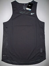 NEW Nike Miler Dri-Fit running singlet men small/medium/large M L black tank top