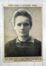 1921 French Academy Of Medicine Has Honoured Mme Curie