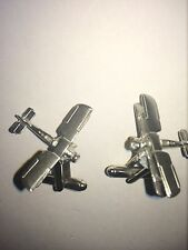 Fairey Swordfish C46 Torpedo-Bomber Aircraft Fine English Pewter Cufflinks