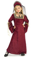 GIRLS LADY OF THE PALACE TUDOR MEDIEVAL PRINCESS FANCY DRESS COSTUME