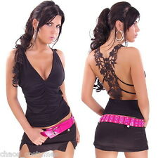 SEXY NIGHT CLUB STYLE FUNKY NAUGHTY FASHION TOP DESIGNER SINGLET 6 8 10