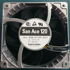 SANYO Brushless DC San Ace 9SG1212P1G01 120mm 12V 4A Metal Fan