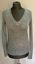 J Crew Glitter-Sequinned Ladies Jumper Size: Small
