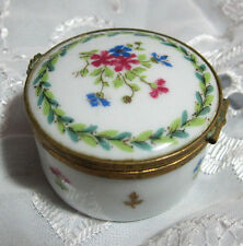 Limoges Haviland France Tooth Fairy Trinket Porcelain Pill Box Collectors