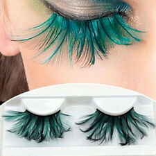 Popular Lady Soft Long Green Feather False Eyelashes Eye Lashes For Makeup Party