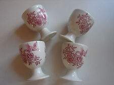 Royal Doulton, Ridgways 'Windsor' rot,  4 Eierbecher