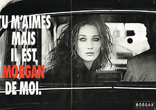 PUBLICITE ADVERTISING 124  1992  MORGAN  pret à porter CARLA BRUNI   ( 2p)