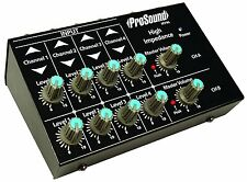 ProSound 4-Channel Micro Stereo Mixer For Microphones and Instruments