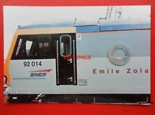 PHOTO  CLASS 92 ELECTRIC NAMEPLATE - 92 014 EMILE ZOLA