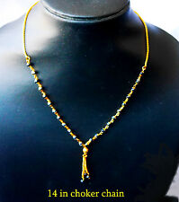22k Goldplated choker Chain 14 in Indian necklaces MangalSutra  h87