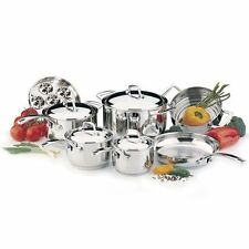 Lagostina 11-pc. Cookware Set 18/10 Stainless Steel Dishwasher Safe