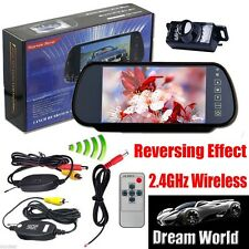 "Wireless Car Rear View PARKING System Backup Reverse Camera+7"" TFT LCD Monitor"