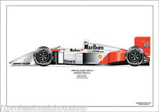Ayrton Senna ltd.ed.signed art print-1988 McLaren MP4/4