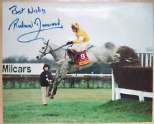 RICHARD DUNWOODY ORIGINAL AUTOGRAPH HORSE RACING PHOTO