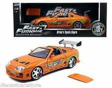 "JADA BRIAN'S TOYOTA SUPRA ORANGE ""FAST & FURIOUS "" MOVIE 1/18 DIECAST 97505"
