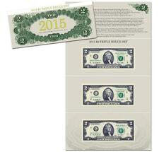 2015 $2 Triple Deuce Currency Set 3000 Sets Only!! SOLD OUT
