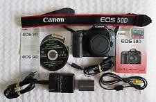 Boîtier CANON EOS 50D capteur à nettoyer + accessoires, mode d'emploi, CF 2GB