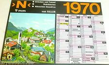 Faller Modellismo Calendario 1970 N Ponte Tunnel Edifici Ferroviari Cottage 9mm