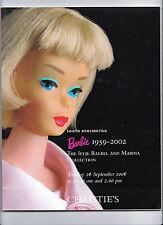 Christies Catálogo de Subasta de muñeca Barbie 2006 Excelente