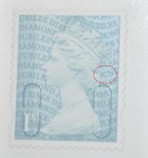 SG U3274 Diamond Jubilee 1st class self-adhesive booklet stamp code MCND