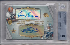 J. BROWN/E. SMITH 2012 TOPPS SUPREME DUAL AUTOGRAPHS 8/25 #SDA-BS BGS 9/AU 10