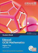 EDEXCEL GCSE MATHS LINEAR HIGHER TIER STUDENT BOOK NO CDWORKED EXAMPLES QUESTION
