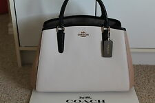 NWT COACH COLORBLOCK SMALL MARGO CARRYALL SATCHEL  CROSSGRAIN  F57497   $425