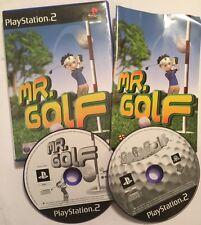 2 x PAL PLAYSTATION 2 PS2 MIDAS GOLF GAMES Mr. GOLF + Go Go GoGo GOLF