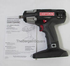 Craftsman C3 Heavy Duty XCP 19.2v Cordless 1/2 Inch Reversable Impact Wrench New