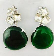 """Robert Sorrell Originals Stunning Modern Art Glass/Chrystal Earrings 2.5"""""""