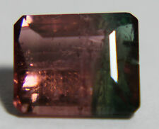 Natural Bicolor, Watermelon Tourmaline, 1.79ct,7x6mm Turmalin, pink and green